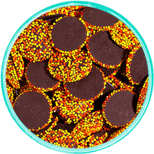 Dark Chocolate Fall Nonpareils - Detailed View