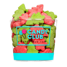 A cup of Gummi Christmas Trees candy