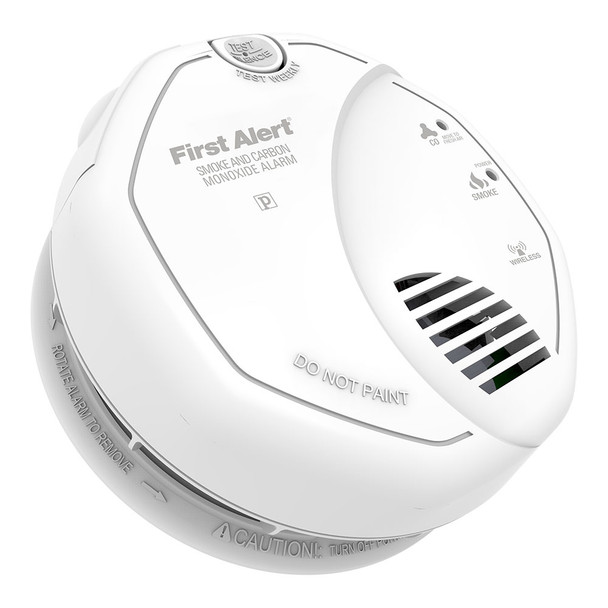 First Alert Z-Wave Enabled Battery Smoke & Carbon Monoxide Combo Alarm :  ZCOMBO-G