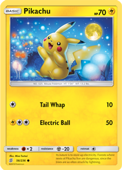 SM11-056/236C Pikachu Rev Holo