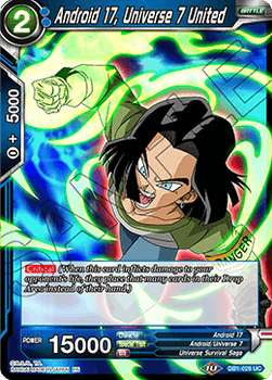 DB1-028UC Android 17, Universe 7 United Foil