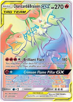 SM12-251/236SR Charizard & Braixen GX (Secret)