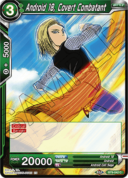 BT09-042C Android 18, Covert Combatant Foil