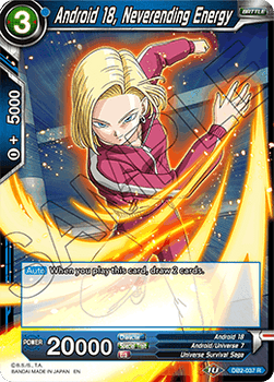 DB2-037R Android 18, Neverending Energy