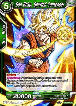 DB2-065UC Son Goku, Spirited Contender Foil
