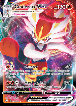 SWSH02-036/192UR Cinderace VMAX