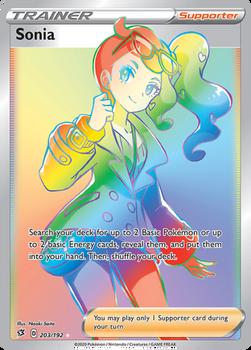 SWSH02-203/192SR Sonia (Secret)