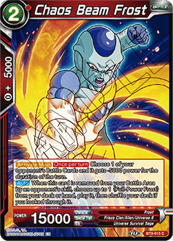 BT9-015C Chaos Beam Frost Prerelease Stamp