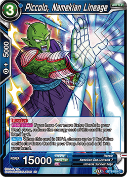 BT9-029C Piccolo, Namekian Lineage Prerelease Stamp
