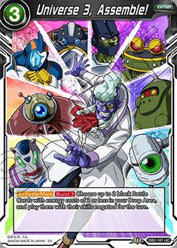 DB2-161UC Universe 3, Assemble! Draft Tournament Stamp