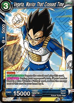 BT10-042C Vegeta, Warrior That Crossed Time Foil