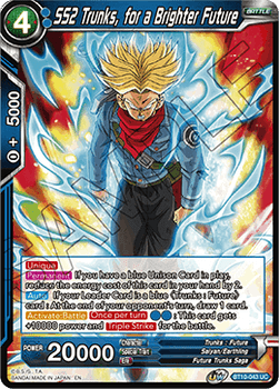 BT10-043UC SS2 Trunks, for a Brighter Future Foil