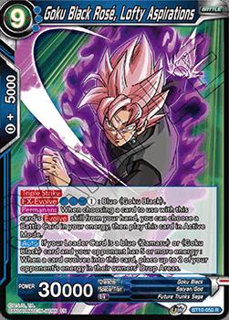 BT10-050R Goku Black Rose, Lofty Aspirations Foil