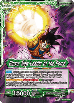 BT10-061C Ginyu // Ginyu, New Leader of the Force Foil