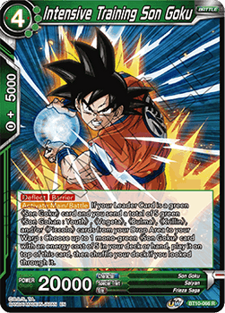 BT10-066R Intensive Training Son Goku Foil
