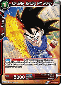 BT10-007R Son Goku, Bursting with Energy Prerelease Stamp