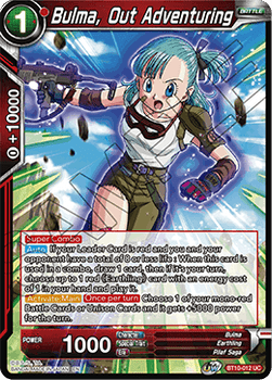 BT10-012UC Bulma, Out Adventuring Prerelease Stamp