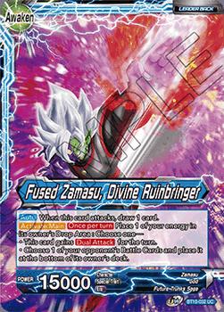 BT10-032UC Fused Zamasu // Fused Zamasu, Divine Ruinbringer Prerelease Stamp