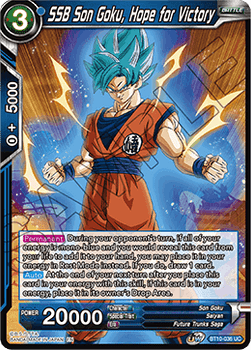BT10-036UC SSB Son Goku, Hope for Victory Prerelease Stamp
