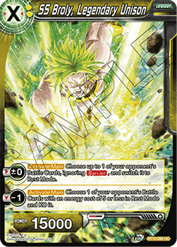 BT10-094UC SS Broly, Legendary Unison Prerelease Stamp