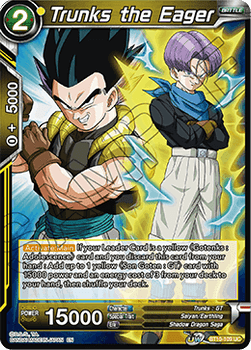BT10-109UC Trunks the Eager Prerelease Stamp