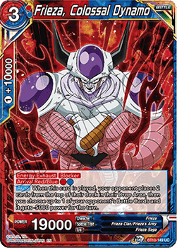 BT10-149UC Frieza, Colossal Dynamo Prerelease Stamp