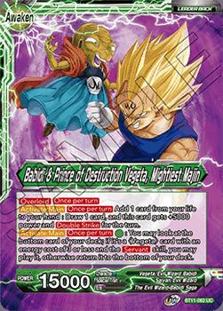 BT11-062UC Vegeta & Babidi // Babidi & Prince of Destruction Vegeta, Mightiest Majin Foil