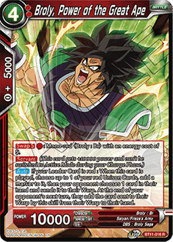 BT11-016R Broly, Power of the Great Ape Prerelease Stamp Foil