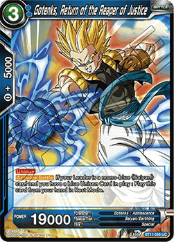 BT11-056UC Gotenks, Return of the Reaper of Justice Prerelease Stamp Foil