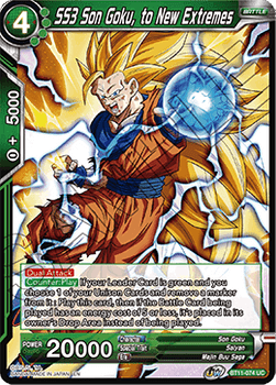 BT11-074UC SS3 Son Goku, to New Extremes Prerelease Stamp Foil