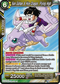 BT11-095UC Son Gohan & Hire-Dragon, Flying High Prerelease Stamp Foil
