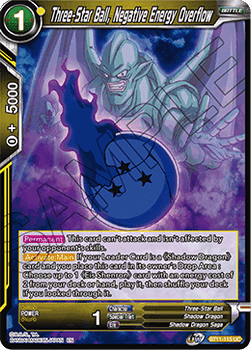 BT11-115UC Three-Star Ball, Negative Energy Overflow Prerelease Stamp Foil