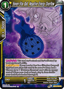 BT11-116UC Seven-Star Ball, Negative Energy Overflow Prerelease Stamp Foil