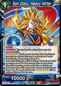 BT12-031UC Son Goku, Heavy Hitter Foil