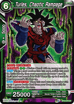 BT12-078UC Turles, Chaotic Rampage Foil
