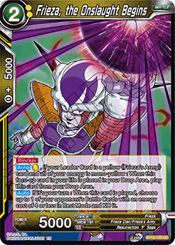 BT12-102UCPS Frieza, the Onslaught Begins Prerelease Stamp Foil