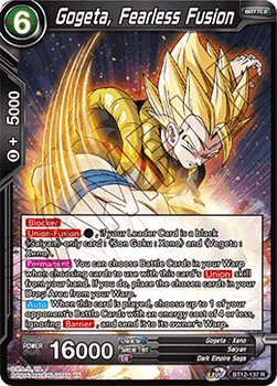 BT12-137RPS Gogeta, Fearless Fusion Prerelease Stamp Foil