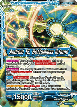 EB1-12C Android 16 // Android 16, Bottomless Inferno Foil