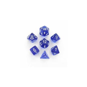 CHX 23076 Translucent Polyhedral Blue/White 7-Die Set