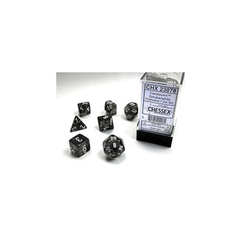 CHX 23078 Translucent Polyhedral Smoke/White 7-Die Set