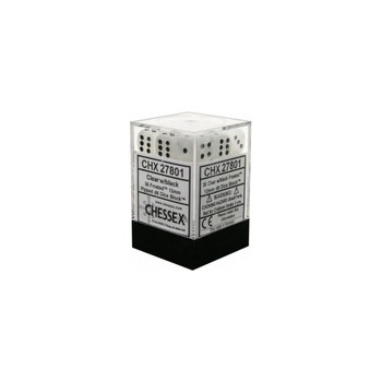 CHX 27801 Frosted 12mm d6 Clear/Black Block (36)