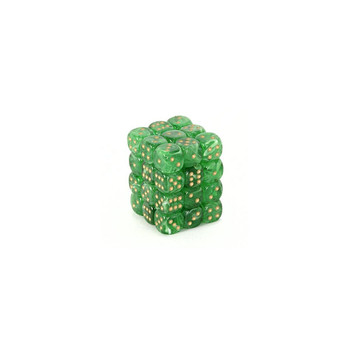 CHX 27835 Vortex 12mm d6 Green/Gold Block (36)