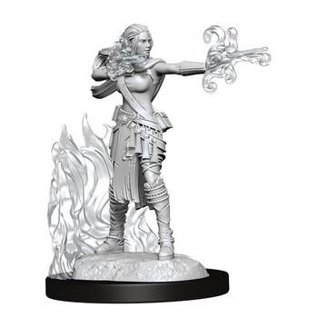 D&D Nolzurs Marvelous Unpainted Miniatures Female Multiclass Warlock + Sorcerer