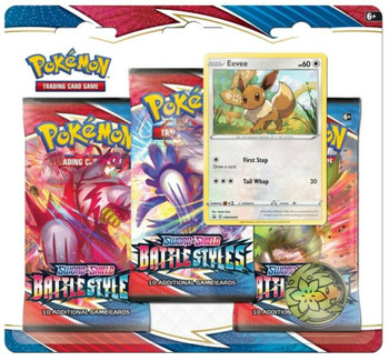 Pokemon Battle Styles 3 Pack Blister (Eevee)