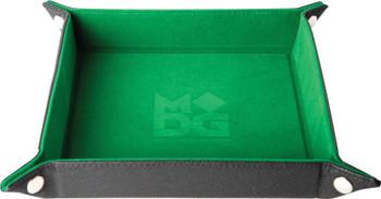 """MDG Velvet Folding Dice Tray - Green (10""""x10"""")"""