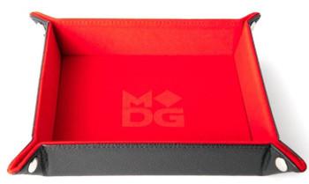 """MDG Velvet Folding Dice Tray - Red (10""""x10"""")"""