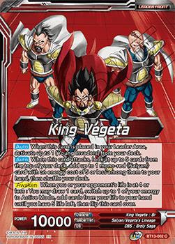 BT13-002C King Vegeta // King Vegeta, Head of the Saiyan Rebellion Foil