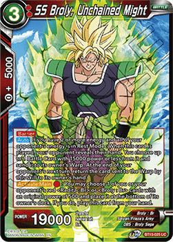 BT13-025UC SS Broly, Unchained Might Foil