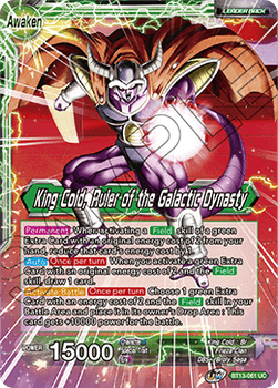 BT13-061UC King Cold // King Cold, Ruler of the Galactic Dynasty Foil