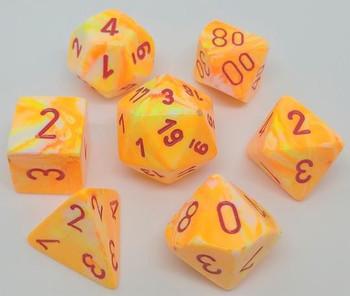 CHX 27453 Festive Polyhedral Sunburst/Red 7-Die Set